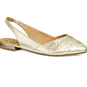 Jack Rogers | Rory Gold Slingback Flats Shoes 7